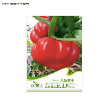Red Octagonal Eggplant Seeds Can Watch Vegetable Seeds - 20 Particles - $5.00