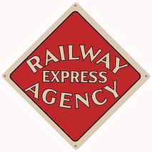 Railway Express Agency Railroad Sign 12X12 - $25.74