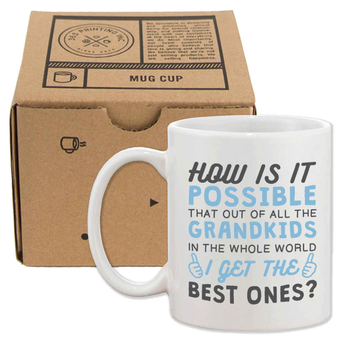 Best Grandkid In The Whole World Coffee Mug Gift to Grandpa For Father's Day