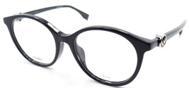 Fendi Rx Eyeglasses Frames FF 0336/F PJP 51-17-145 Blue Made in Italy Asian Fit - $91.92