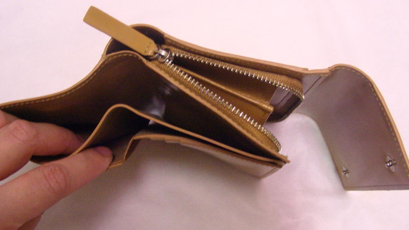 Calvin Klein Beige Mustard Trifold Coin Genuine Leather Wallet Free Ship