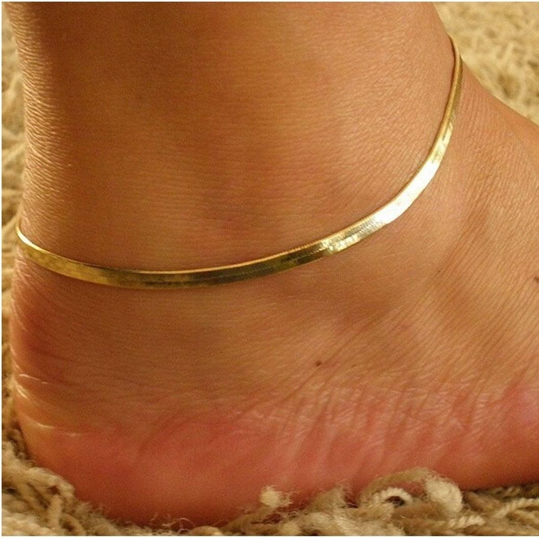 pin gold inches design bracelet ovals and fine yellow anklet hearts anklets bracelets ankle