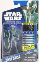 Star Wars The Clone Wars 2010 Madalorian Police Officer CW09 Missle Laun... - $17.66