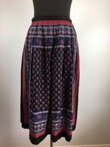 Vintage Lew Magram Women Skirt 12 Pleated Multi Color Floral Midi USA Un... - $34.64