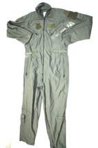 US AIR FORCE NOMEX FIRE RESISTANT FLIGHT SUIT GREEN CWU-27/P - 42 LONG - $54.45