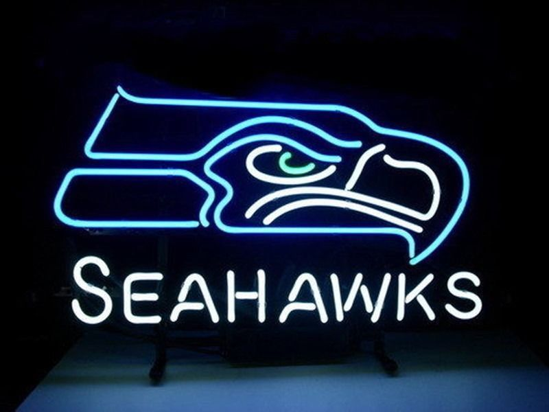 Primary image for SEATTLE SEAHAWKS neon sign 17''X14'' t54 shipped from USA