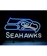 SEATTLE SEAHAWKS neon sign 17''X14'' t54 shipped from USA