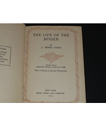 Antique Book, Life of the Spider by J. H. Fabre,1915, First non fiction ... - $25.00