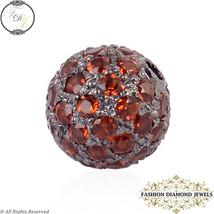 8 MM Disco Ball Finding Garnet Gemstone, 925 Sterling Silver Gemstone Be... - $154.00