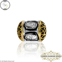 Polki Diamond Bead Ball Finding, 14K Gold Bead Spacer Finding Fashion Je... - $209.00