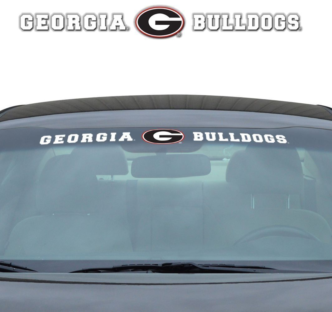 "GEORGIA BULLDOGS 35"" X 4"" WINDSHIELD - REAR WINDOW DECAL CAR TRUCK NCAA"