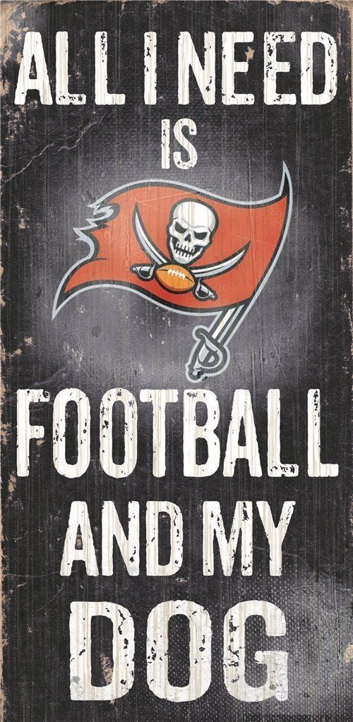 "TAMPA BAY BUCCANEERS FOOTBALL & my DOG WOOD SIGN and ROPE 12"" X 6""  NFL MAN CAVE"
