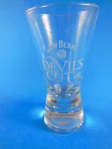 Jim Beam Devil's Cut, 90 Proof Shot Glass White Lettering - $4.20