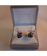 Rose Earrings 92.5 Sterling Silver Dangle for P... - $17.00