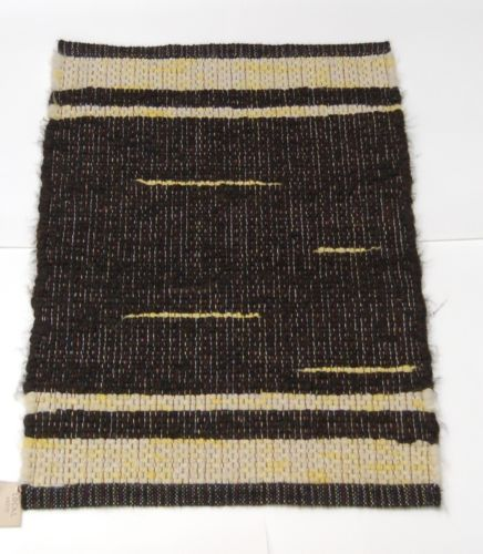 Connies Custom Rugs CCR15 Yellow Black White Throw Rug 24 by 35