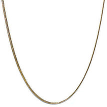 18 kt Gold plated Flat Franco Box Chain 1.5mm - $29.69