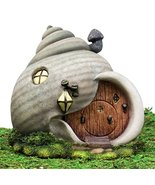 Ebros Gift Enchanted Fairy Garden Miniature Grey Helix Snail House Figur... - £27.65 GBP