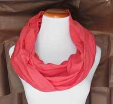 Bright Coral Layering Infinity Scarf, Fashion Accessories, Chic Infinity Scarves