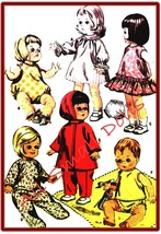 "Vintage Clothing Pattern for 7""-8 1/2"" Dolls - $7.99"