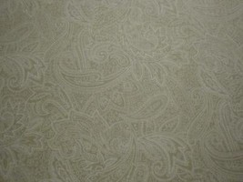 Pefectly Paisley By Choice Fabrics-Beige Paisleys Outlined On Cream B/G-BTY - $139,44 MXN
