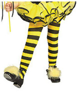 Yellow   black bumble bee girls tights for halloween costume toddler 67168 thumbtall