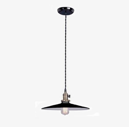 Industrial Style Pendant Light Fixture W Black 10 Flat