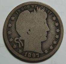 1897S Barber Quarter 25¢ Silver Liberty Head Coin Lot# MZ 3336