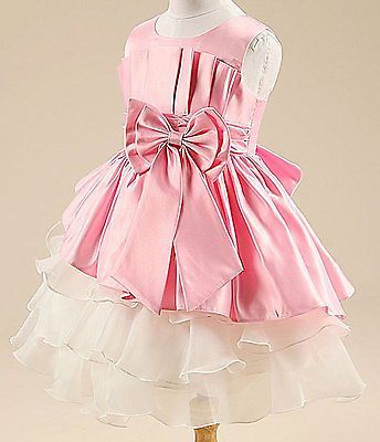 Primary image for Kids Baby Girl's Tulle Bowknot Sleeveless Princess Party Dresses 130 cm SZ 8-10