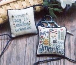 Americana Scissor Fob kit cross stitch Shepherd's Bush - $24.00