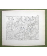 BELGIUM Wavre & Environs + Napoleon Battle of 1815 - 1848 Fine Quality Map - $18.79