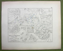 GERMANY Heilsberg & Environs + Napoleon Battle ... - $18.79