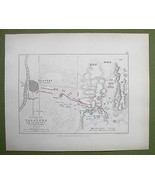 SPAIN Talavera de la Reina & Environs + 1809 Battle - 1848 Fine Quality Map - $18.79