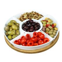 Elama Signature 12 1/4 Inch 6-Piece Lazy Susan Appetizer and Condiment S... - €34,51 EUR