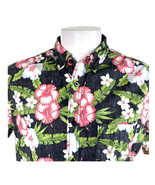 Tony Hawk Reverse Print Hibiscus Flowers Large Hawaiian Aloha Shirt - $25.88
