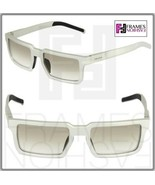 PRADA 50S TECHNIQUE Square Silver Brushed Aluminum Sunglasses Unisex PR50SS - $291.06