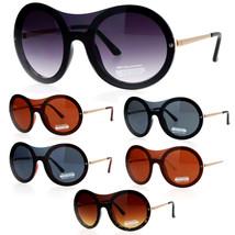 SA106 Retro Unique Shield Round Rimless Womens Sunglasses - $12.95