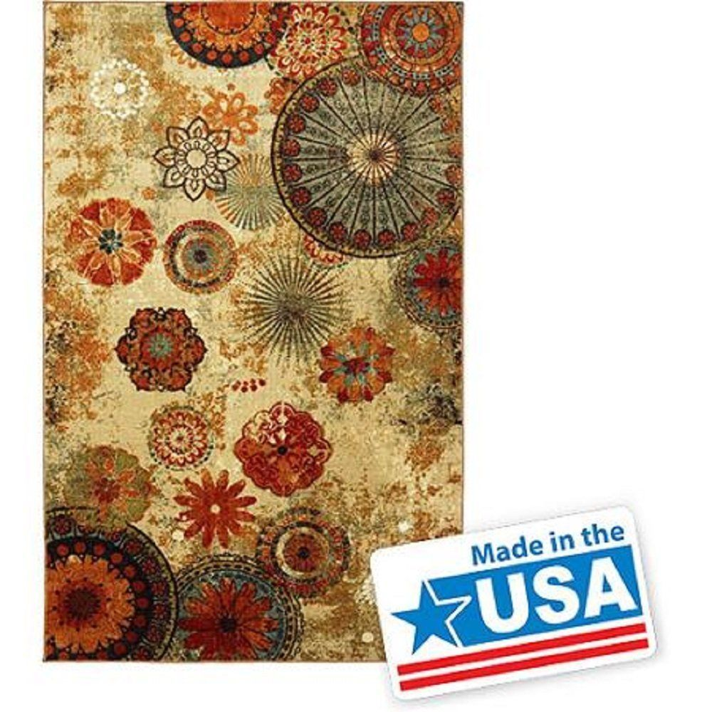 Area rug 8x10 carpet soft rug living dining room stain for Living room rugs 8 by 10