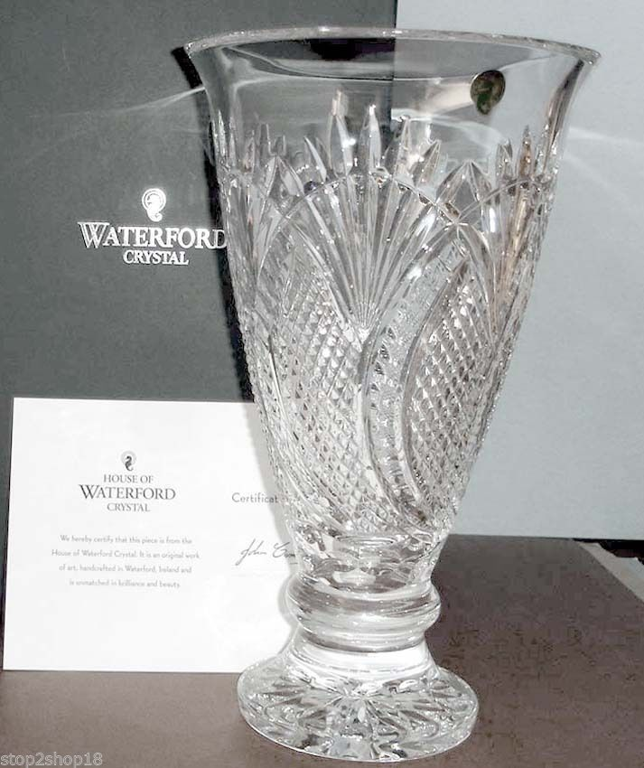 Waterford Seahorse Large Footed Vase Crystal And 50 Similar Items