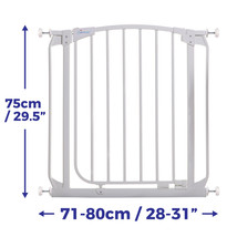 Chelsea Auto-Close Stay Open Security Safety Baby Pet Gate Home Infant B... - $73.10