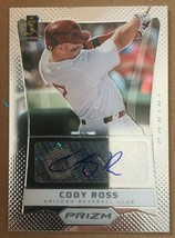 2013 Panini Prizm Cody Ross #CR Autograph Baseball Card Diamoindbacks NM/M - $3.63