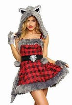 Dreamgirl Big Bad Wolf Furry Animals Sexy Adult Womens Halloween Costume... - $55.95