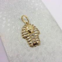 "Solid 10K Yellow Gold Mini King Tut CZ Pendant, 2.1 grams, 1.1"", Small - $179.00"