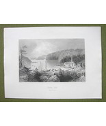 CANADA Indian Town River of St. John - 1841 Eng... - $13.86