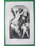 NUDE God & Mortal Woman Cherub by de Nouy - VIC... - $17.82