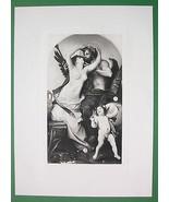 NUDE God & Mortal Woman Kiss Cherub by de Nouy ... - $21.78