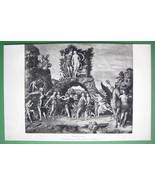 NUDE Muses on Mount Parnassus - VICTORIAN Era A... - $13.86
