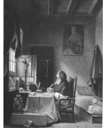 SAVONAROLA Italian Reform Preacher Writes Letter in Cell - 1860s Antique... - $7.92