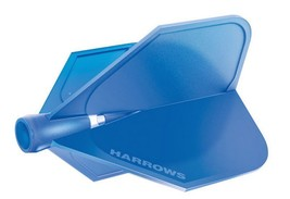 Harrows Clic - Blue - Standard size Flight - set of 3 perfect 90° degree angles - $8.75