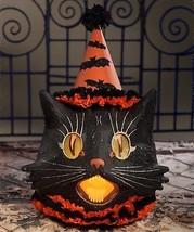 Halloween Black Sassy Cat Paper Mache Large Lantern,20'' x 15''. - $143.55