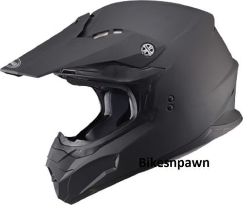 New Matte Black L Adult GMax MX86 Offroad Helmet DOT & ECE 22.05 Approved